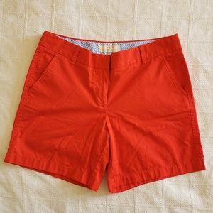 J CREW Womens Red/Orange Broken-In Chino Shorts 10